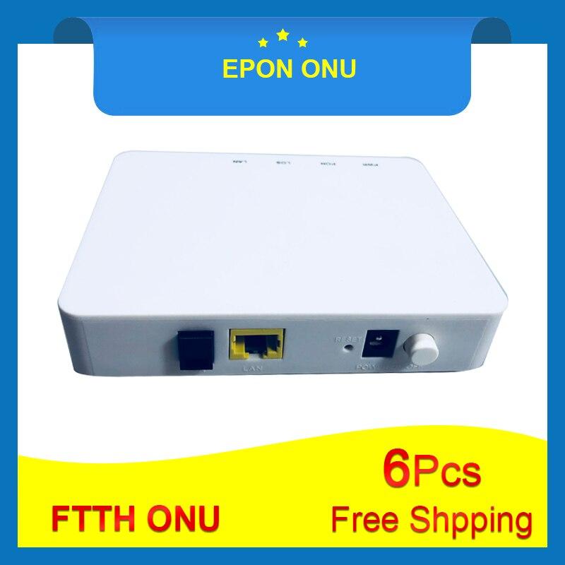 6Pcs Free shiping OLT FTTH EPON ONU EPON 1port ONU EPON 1 25G Epon ONU ONT