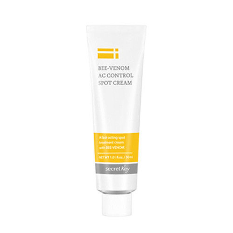 SECRET KEY Bee Venom AC Control Spot Cream 30ml Face Cream Skin Care Eliminates Dead Skin Cells Soothes Acne Treatment Cream