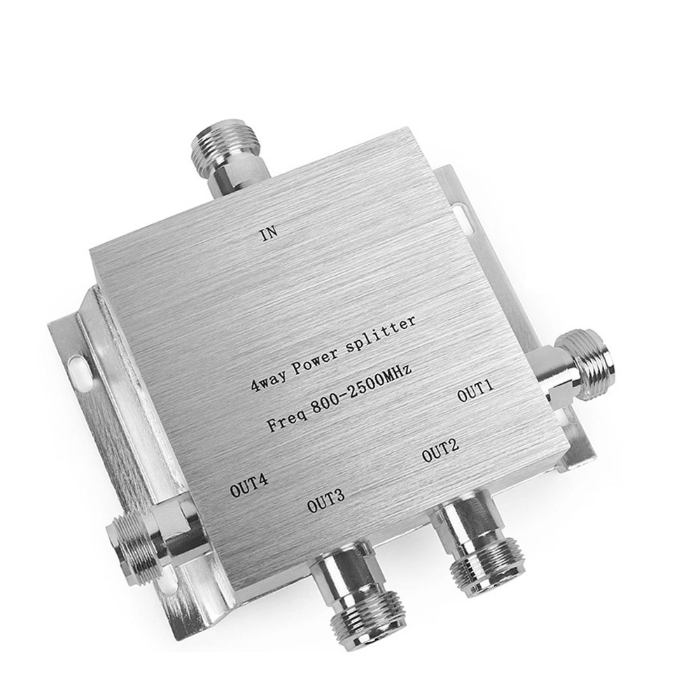 RF Coaxial Splitter 1 to 2/3/4 In 1 Way Power Splitter 800-2500MHz Signal Booster Divider N female Type Power Splitter Cable 4RF Coaxial Splitter 1 to 2/3/4 In 1 Way Power Splitter 800-2500MHz Signal Booster Divider N female Type Power Splitter Cable 4