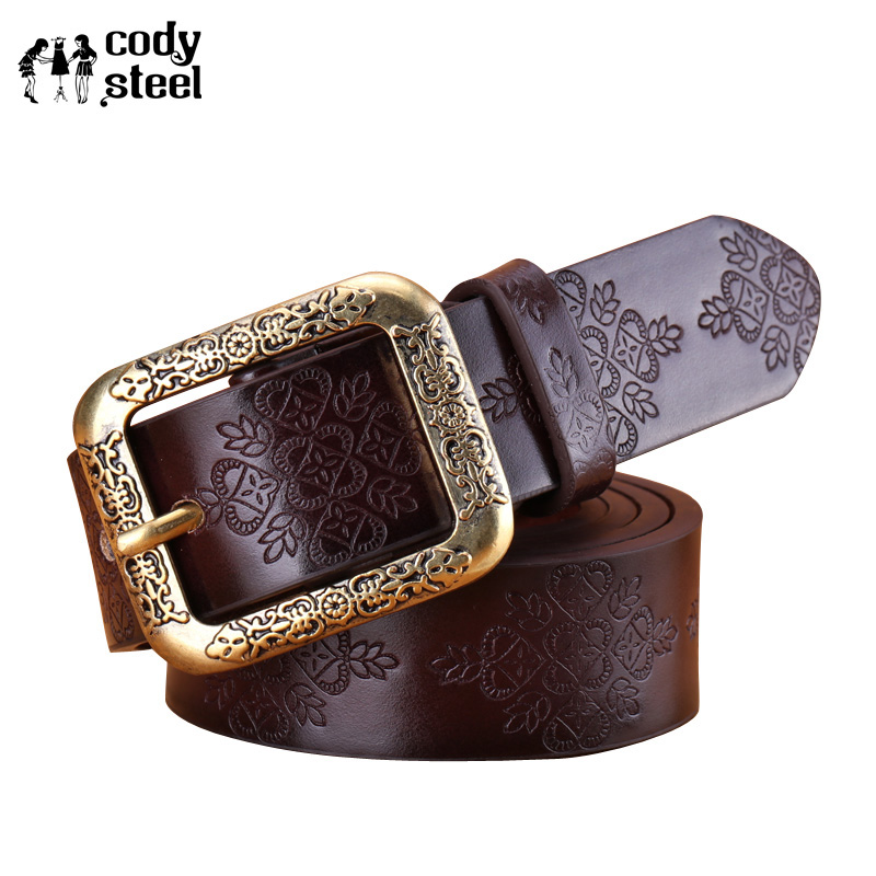 110cm,115cm Fashion Belts Female Famous Brand Designer Belts Women Embossed Popular PU Alloy Buckle Woman Belt