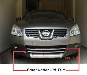 Mobil Styling Cover Stainless Steel Depan Di Bawah Tutup Trim untuk Nissan Qashqai 2007-2009
