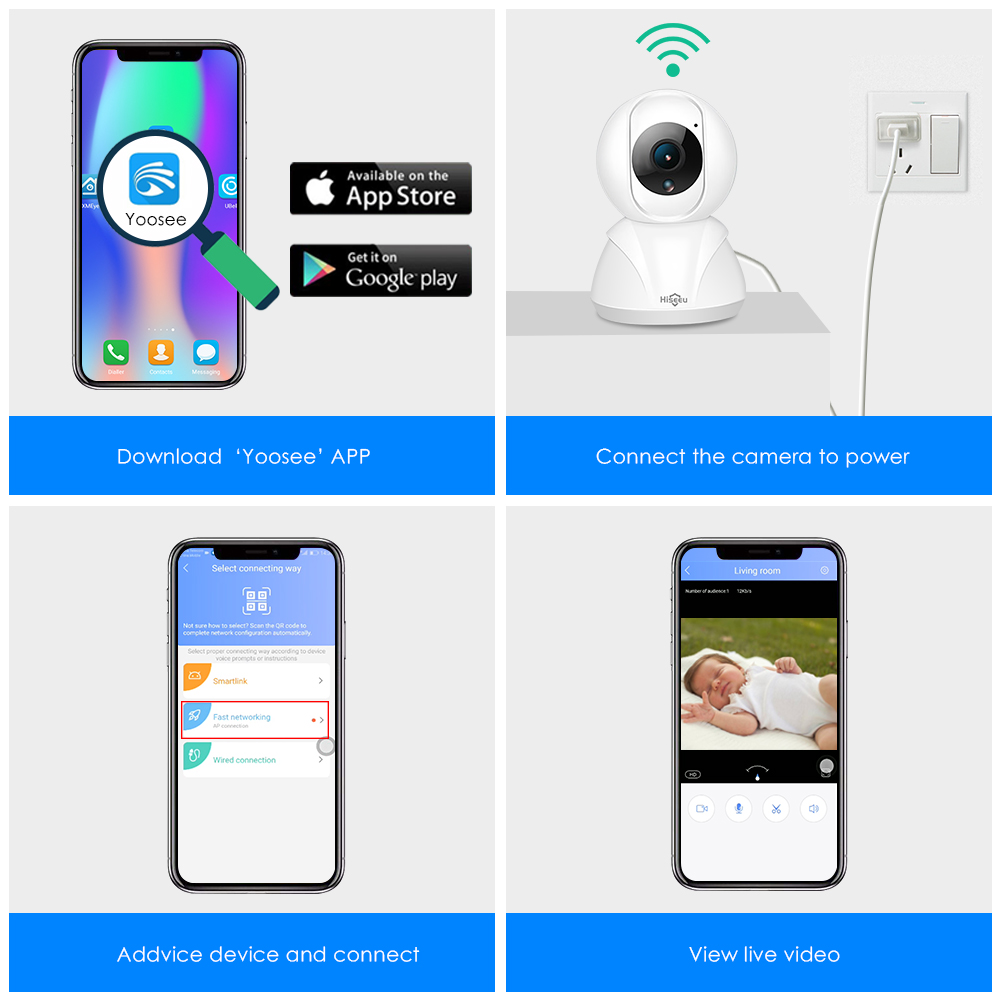 Hiseeu FH3 1080 마력 홈 보안 IP 카메라 무선 스마트 - 보안 및 보호 - 사진 6