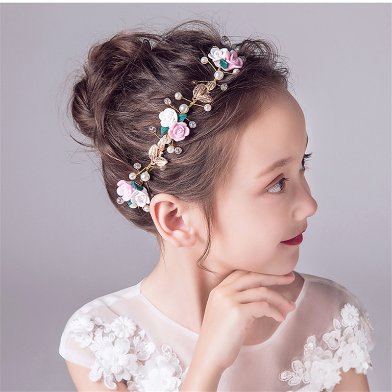 Headwear Metal Crystal Flower Chain Jewelry Headband Head Piece Hair Gift AM