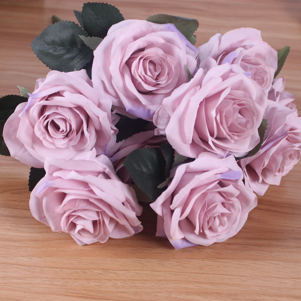 Artificial Silk 1 Bunch French Rose Artificial Flower For Wedding And Party Accessory 4