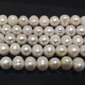 16 inches A+ 9-10mm High Luster White Natural Potato Fresh Water Pearl Loose Strand