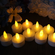 10pcs/lot Romantic Tealight Tea Candles Wedding Decor Candle Light Flickering Light Flameless LED