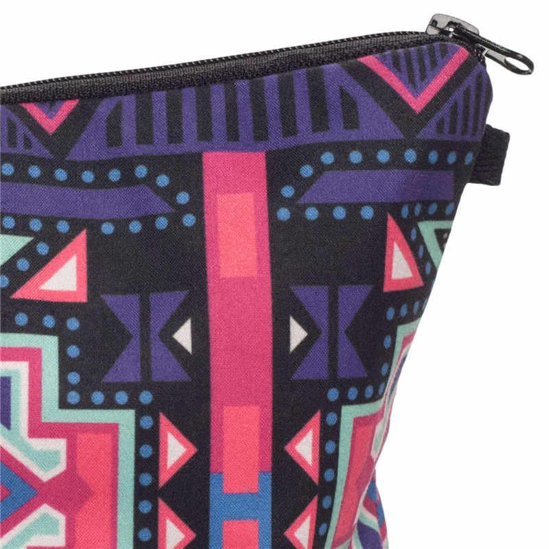 Quem se importa moda maquiagem sacos astec 3d impressão cosméticos pouchs para viagens bolsa cosmética feminina