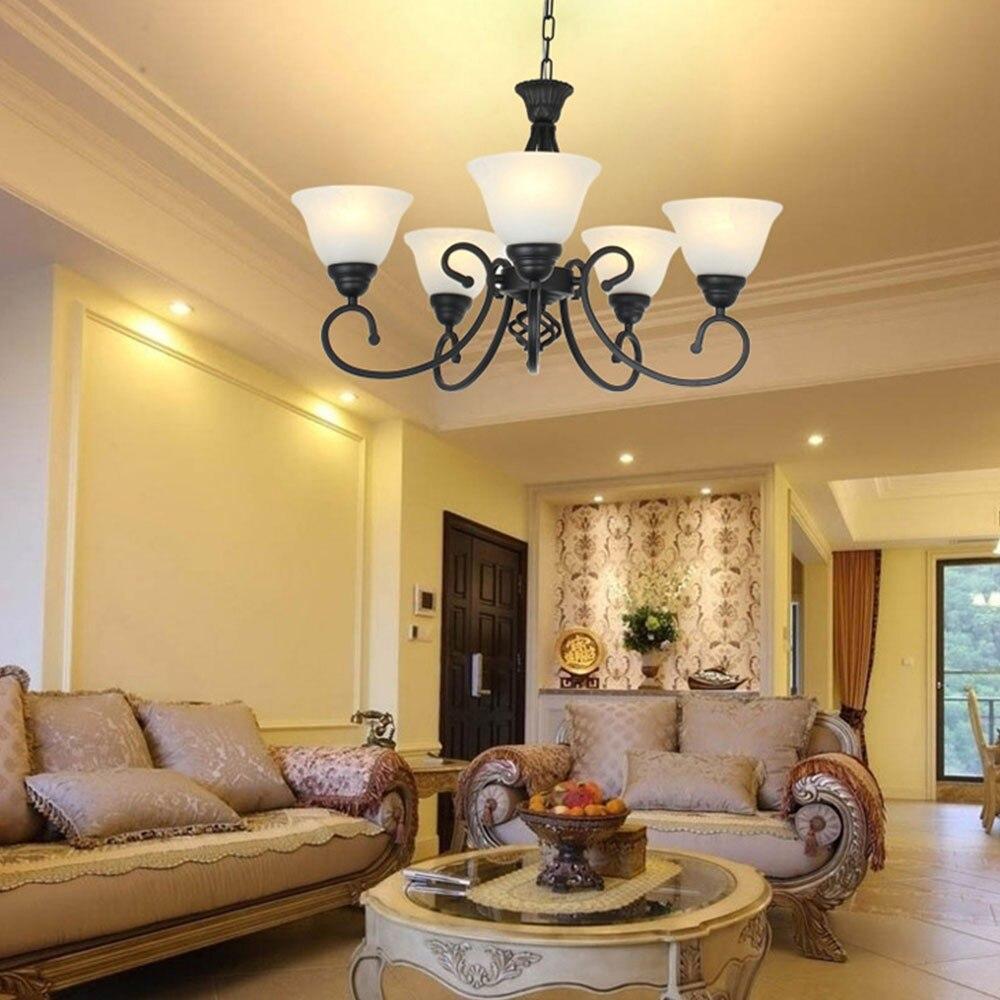 Free shipping Vintage 5 Arms E27 Iron Craft Pendant Lights Lampara Colgante Loft Foyer Ceiling Lamp Bedroom Lights Decor