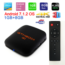 Original Global GTmedia G1TV Box S 4K Android TV 7.1 HD 1G 8G 2.4G WIFI Google Remote Control  IPTV Set top Box 4 Media Player цена