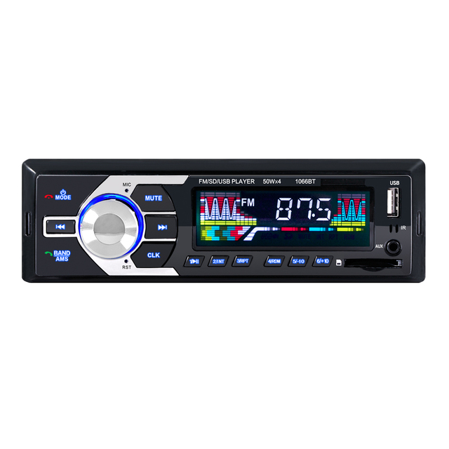 universal 1066 Car music Radio Stereo Player Bluetooth wifi connection Phone AUX-IN MP3 FM/USB/Remote For Phone 12V
