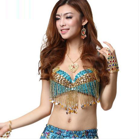 Belly Dance Costumes Senior Sexy Embroidery Tassel Beads Belly Dance Bra For Women Belly Dancing Bra Tops