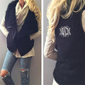 Fashion vest waistcoat women heavy hair collar plush veste femme embroidery chalecos mujer vests of women sleeveless jacket vest