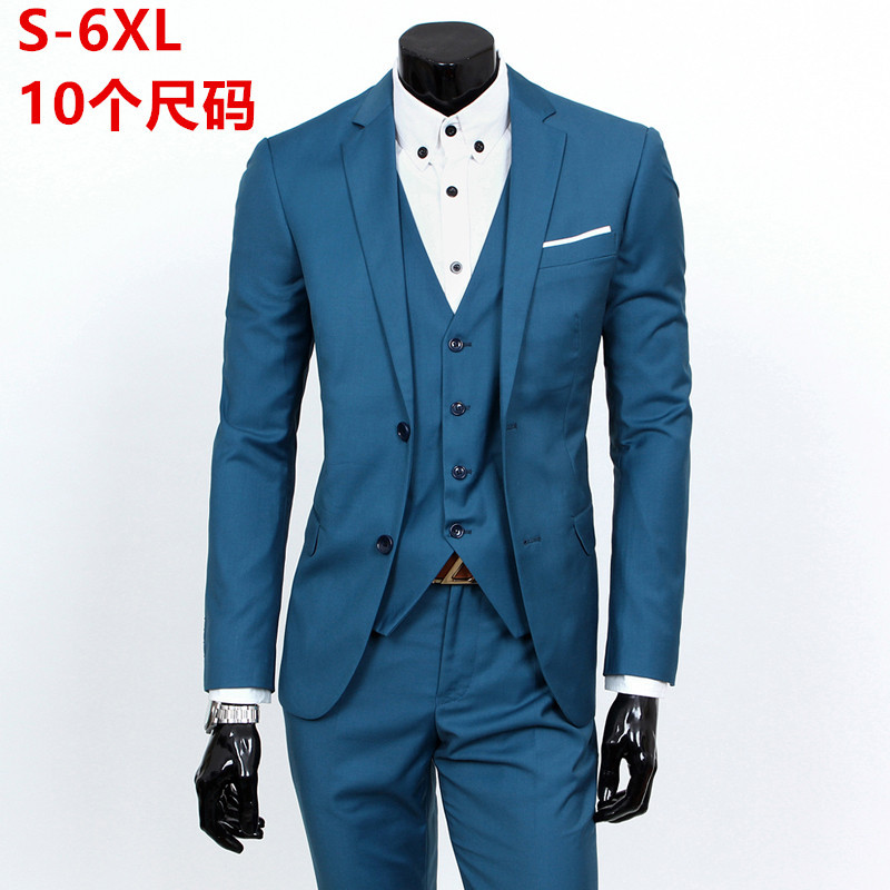 2017 Autumn High Quality Business And Leisure Suit A Three-piece Suit The Bridegroom Noble Fashion