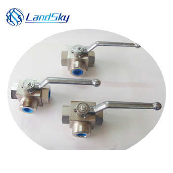 high pressure 3 way valves stainless steel ball valves three way ball valve thread hread port NPT 3/8