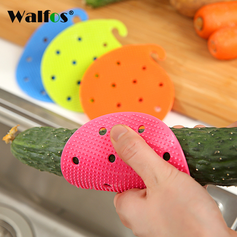 Vegetable Cleaning Brush Cute Shape Random Color Silicone Fruits Easy Cleaning Tool For Potato Carrot Ginger Kitchen Accessorie in Cleaning Brushes from Home Garden
