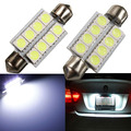 Big Promotion 42MM 5050 SMD 8 LED Pure White Car Auto Festoon Dome Reading Map Interior Light Door Lamp Bulb DC12V