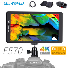 Feelworld F570 DSLR On Camera Field Monitor 5.7 IPS Full HD 1920x1080 4K HDMI Video Monitor for Sony Canon Nikon with Bag lilliput a7s 7 ultra slim ips full hd 1920 1200 4k hdmi on camera video field monitor for canon nikon sony dslr camera video