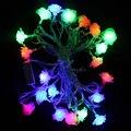 4 M 20L Rose Flor LED String Luz AC220V Colorido Indoor Outdoor do Feriado Do Natal/Partido/Casamento/Decoração Plugue DA UE levou luz