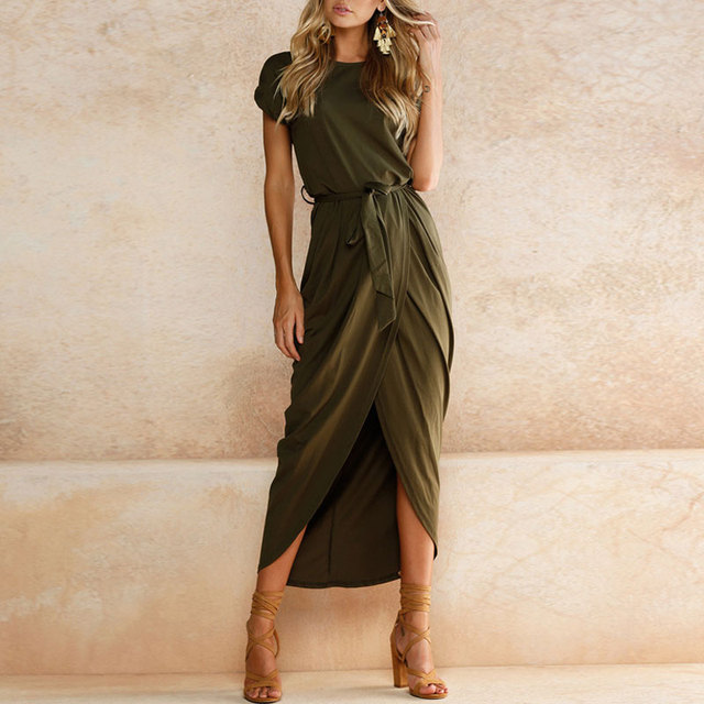 2019 Plus Size Party Dresses Women Summer Long Maxi Dress Casual Slim Elegant Dress Bodycon Female Beach Dresses For Women 3xl 1