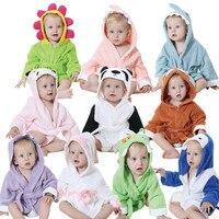 KID STATION Fashion Hooded Animal Cartoon Baby Towel Cute Children Kid Bathrobe Robe Infant Beach Spa