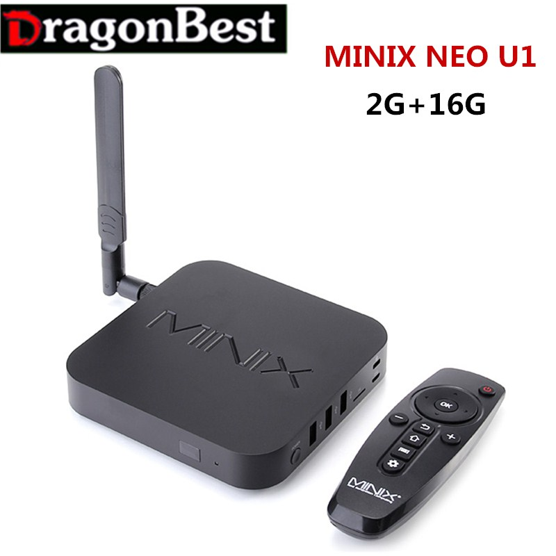 Original MINIX NEO U1 2G/16GAndroid TV Box Amlogic S905 Quad Core 802.11 2.4/5GHz WiFi H.265 HEVC 4K Ultra HD XBMC Smart TV Box original minix neo u1 tv box amlogic