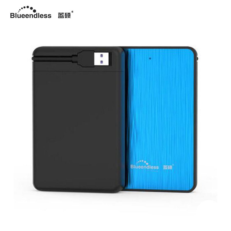 High Speed 5400rpm external 1TB mechanical hard disk 2.5 sata USB 3.0 hdd enclosure with tool free 8M cache capacity hdd case high speed 5gbps blue orange hdd ssd case with 320g capacity hard disk 2 5 sata usb 3 0 with rubber anti shock case aluminum hdd