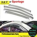Windows visor car styling Car-Styling Awning Shelter Rain Sun Window Visor For KIA Sportage 2011 2012 2013 2014 2015 Sticker