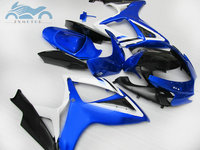 Custom Injection Fairing kits for Suzuki GSXR 600 06 07 K6 GSXR600 750 aftermarket ABS sports fairings GSXR750 2006 2007 blue