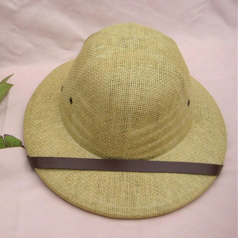 Взрослых Соломенная Шляпа От Солнца кепки сафари джунгли Охотник проводник тропический шлем шляпа фильм играть реквизит