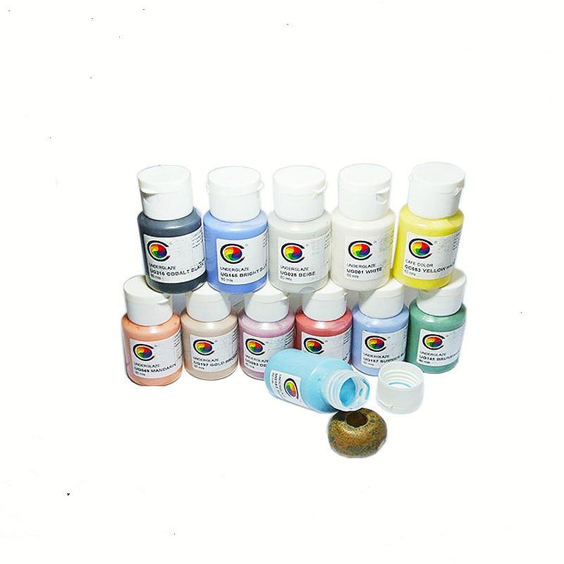 60ml Ceramic High Temperature Electric Kiln Glaze Pigment Underglaze Painted Powder Ceramic Raw Material Color Mud Pigment