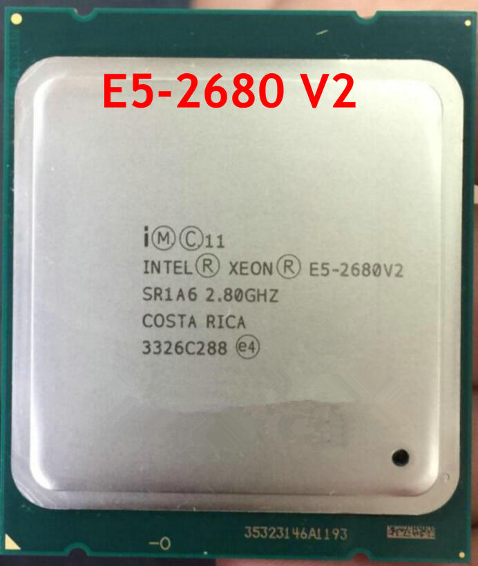 <font><b>Intel</b></font> <font><b>Xeon</b></font> <font><b>E5</b></font> <font><b>2680</b></font> <font><b>V2</b></font> SR1A6 CPU Processor 10 Core 2.80GHz 25M 115W desktop Cpu 2680v2 cpu image