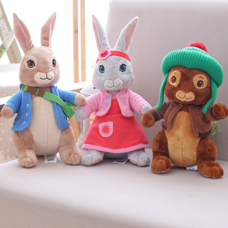 18-30cm Cartoon Peter Rabbit Stuffed Animals Plush Toy Rabbit key chain Doll For Kids Baby Gifts With Keychain 60cm new queen couple rabbit plush toy of peter rabbit doll wearing glasses rabbit doll valentine s day gift