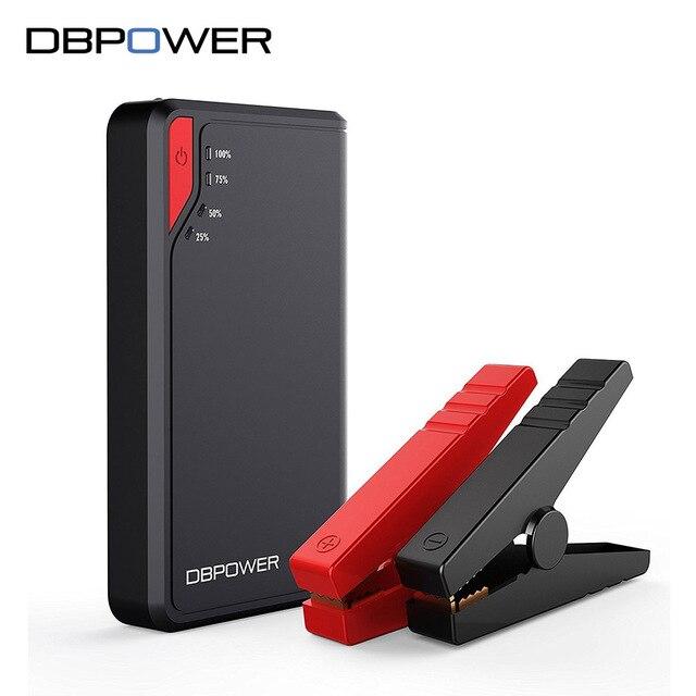Dbpower Портативный автомобиля Пусковые устройства 300A/500A пик Батарея стартер 12 В автомобиля Зарядное устройство booster 8000 мАч/12000 мАч запасные Аккумуляторы для телефонов
