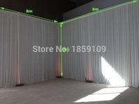 2pcs/lot 3m x 3m white Silk Wedding Backdrop wedding backdrop drapes curtain stage decor wedding supplies props