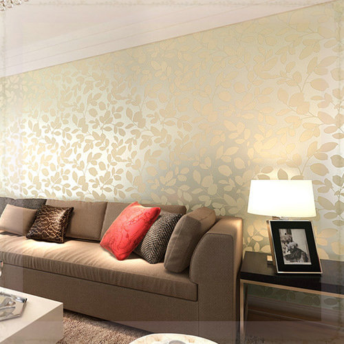 Murals Leaves Non Woven Fabric Warpaer The Wall Paper Self Adhesive Wallpapers Modern Designs