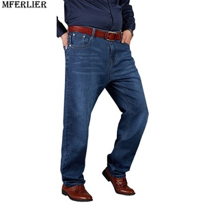 Image 2 - סתיו בתוספת גודל גדול ג ינס מכנסיים גברים 6XL 7XL 8XL 9XL 10XL מזדמן גדול ארוך מכנסיים 44 46 48 50 52 גמישות סתיו קלאסי חדש