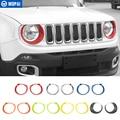MOPAI ABS Auto Front Kopf Licht Lampe Dekoration Abdeckung Aufkleber für Jeep Renegade 2015 Up Außen Zubehör Auto Styling-in Lampenhauben aus Kraftfahrzeuge und Motorräder bei