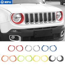 MOPAI ABS Auto Front Kopf Licht Lampe Dekoration Abdeckung Aufkleber für Jeep Renegade 2015 Up Außen Zubehör Auto Styling