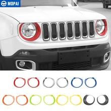 MOPAI pegatinas de decoración para faro delantero de coche, pegatinas para Jeep Renegade 2015, accesorios para Exterior, decoración para coche