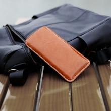 BESTSELLER NEW for iPhone 7/ 6 / for iPhone 6/ 6s case sleeve wallet dark grey merino wool felt full grain tan leather