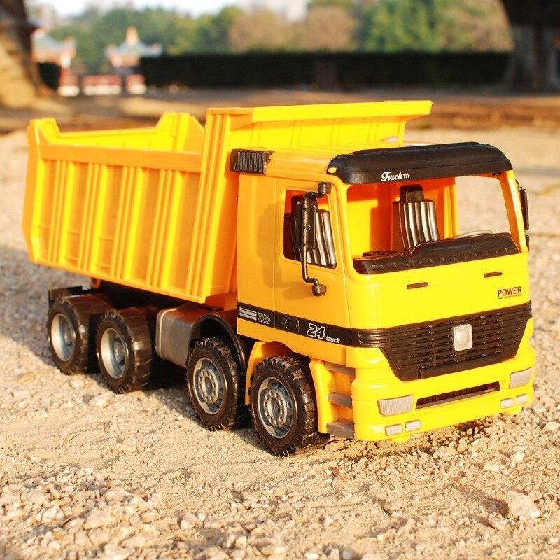 140140 большой автомобиль Строительство игрушки инженерно транспортное средство инерции грузовик для маленьких мальчиков ребенок большой Пл