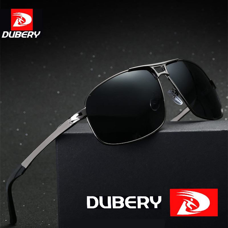 DUBERY 2018 Brand Men Sunglasses Polarized Mirrored HD Lens Metal Frame Cool Vintage Sun Glasses UV400 TAC Eyewear For Male 8542
