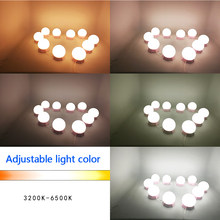 Hollywood Style LED Vanity Mirror Desk Lights Kit for Makeup with Stepless Dimming Wall Lamp 6 8 10Bulbs Kit for Dressing Table(China)