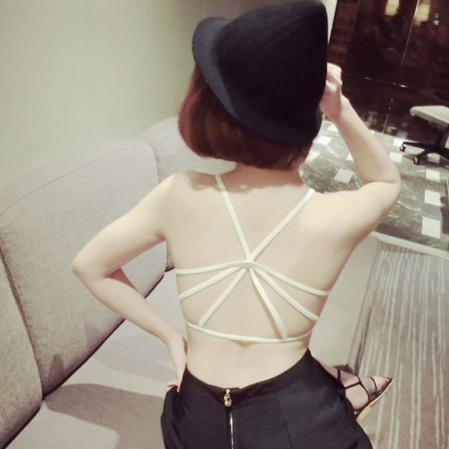 100PCS/LOT 2017 new style Fashion Strappy Sexy Cut Out Bustier bandage underwear   women Vest