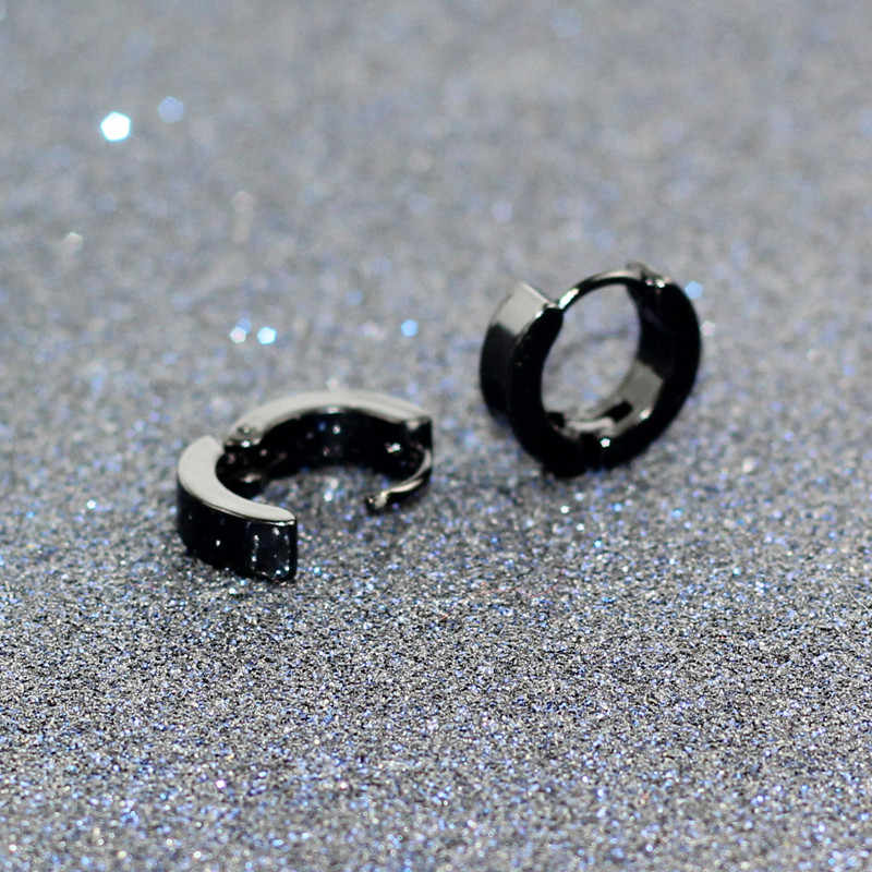 e0213 Small Earrings Silver Gold Stainless Steel Earring for Women Men Earring Colored Circle Earrings Jewelry