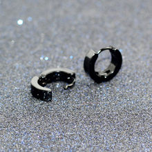 e0213 Small Earrings Silver Gold Stainless Steel Earring for Women Men Earring Colored Circle Earrings Jewelry(China)