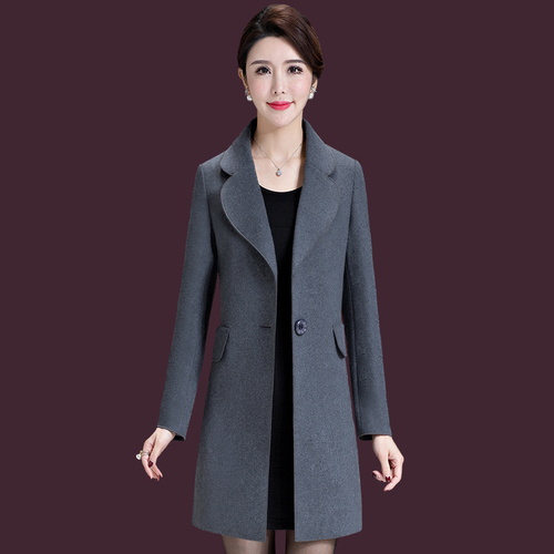 Autumn Korean Version Women Wool Coat 2018 New Style Winter One Button And Xxxxxl Big Code Designs Female Simple Fashion Clothes