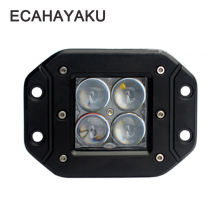 ECAHAYAKU 1 Pcs LED Work Light Bar 20W 4D Flush Mount Pod Spot Beam Offroad Driving Lights for Ford Jeep SUV ATV 4x4 4WD Truck ecahayaku 1 pcs 4d 4 inch 20w led work light bar 12v 24v spot beam offroad 4x4 led work lamp drl for truck boat atv suv jeep 4x4