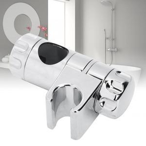 Electroplated ABS Bathroom Toilet Shower Head Slide Bracket Adjustable Rail Bar Shower Holder Lifting Rod Support For φ25mm Tube