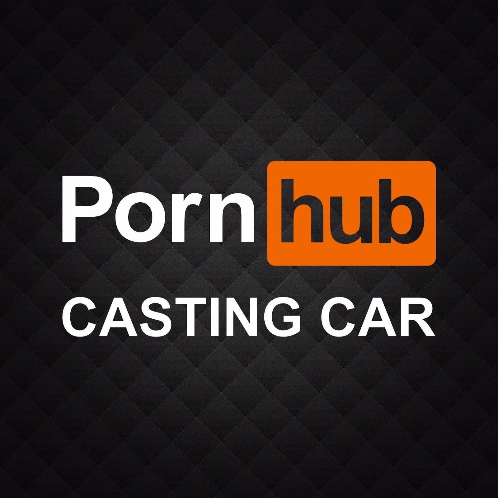 Porn Hub Castingwindow- Funny Adult Die-Cut Vinyl Decal Sticker 30x14cm